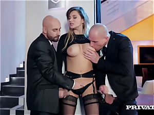 puffy melon Anna Polina Gets Some rough double penetration