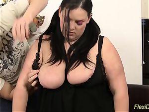 Real nimble plumper lady