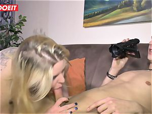 LETSDOEIT - lush girl Gets plumbed hard On bang-out tape