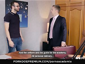 pornography ACADEMIE Lana Rhoades loves plowing French shaft
