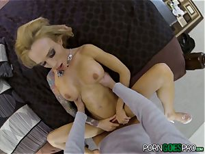 agony or elation for wild blonde honey Sarah Jessie porked in her mind-blowing puss pov style