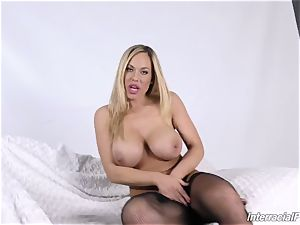 bi-racial pornography with buxomy cougar Olivia Austin and her dark-hued plower