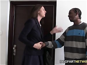 Lara spandex Quenches Her thirst For black man meat