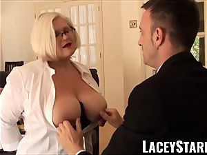 LACEYSTARR - servant GILF caboose inserted by Pascal white