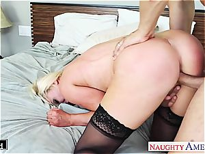 big-titted light-haired Nikki Benz take man-meat