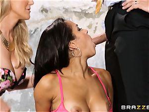 Brandi love lets ho-bo Abbey Lee Brazil tear up her stud