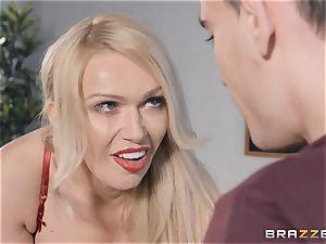 Bad blonde lecturer Amber Jayne