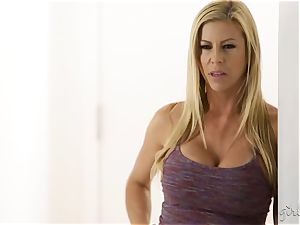 cool huge-chested blonde Alexis Fawx is jealous of her girlfriend