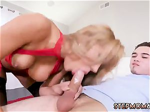 ultra-kinky elder mommy and step plumbs manager companion during game hard-core super hot mummy plowed Delivery stud