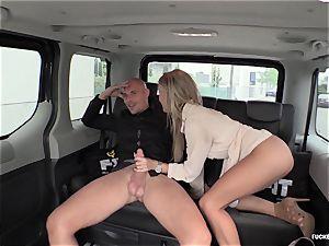 FuckedInTraffic - sizzling Czech honey gets penetrated in a van