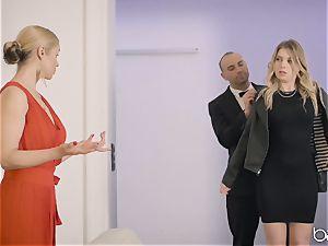 Sarah Vandella and Giselle Palmer share chisel
