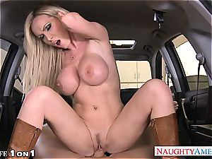 crazy Nikki Benz in point of view getting her mummy cooch torn up