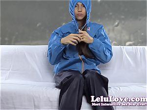masturbating in my windbreaker rain gear while talking