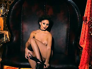 slim small Ariana Marie sumptuous rubber solo onanism