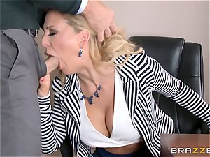 cougar boss Cherie Deville gets shafted by a huge dicked employee