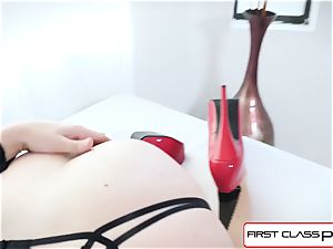 FirstClassPOV - fantastic Chanel Preston inhale a meaty pink cigar