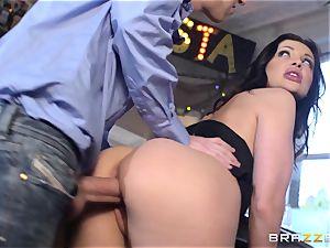 super-fucking-hot waitress Aletta Ocean porked at work