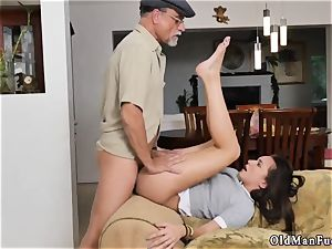 teach me parent hard-core railing the old penis!