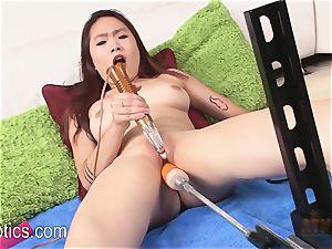Lea Hart pulverizing the orgy machine