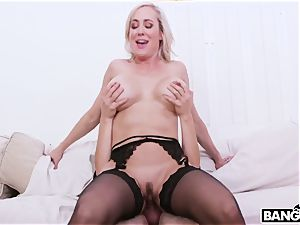Harry Potter and Hermione and huge-boobed Mature super-bitch Brandi enjoy
