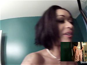 Behind the gigs douche joy with skin Diamond