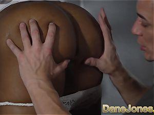 Dane Jones ebony brit honey gargle and porked
