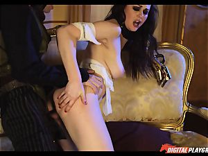 Tina kay has thick explosion on her sexy lovely face from frankenstein