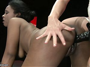 sizzling Kathia Nobili luvs ravaging her colleagues puss rigid from behind