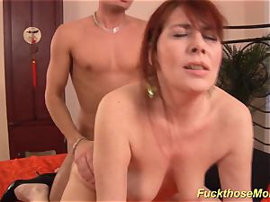 red-haired stepmom need a strenuous schlong