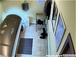 voyeur Hidden webcam in Public Solarium