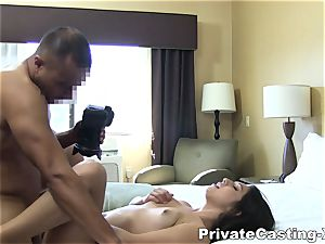 personal Casting-X - tonguing shag and loud ejaculation