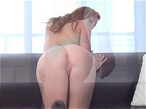ginger-haired Alex Tanner munched out at her audition