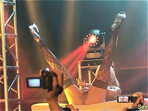 chesty cougar lapdance on stage