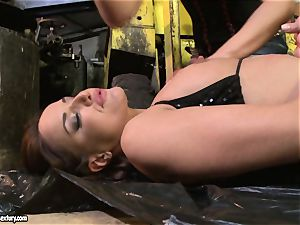 Andy brown and Kathia Nobili caboose dildoing firm