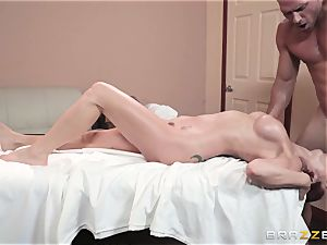 Monique Alexander packed nut sack deep in her tight muffhole