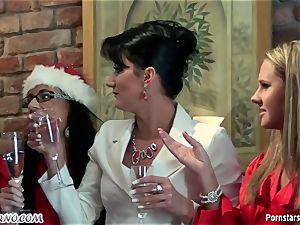 drunk office nymph sapphic soiree with peeing