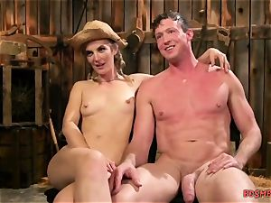nasty cowgirl in pussy-smothering porno gig