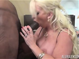 crazy Alura Jenson gets a hefty dark-hued man meat jammed in her cock-squeezing puss