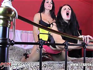 strap-on female domination tongues boinks huge-chested mummy superslut caboose fuckbox