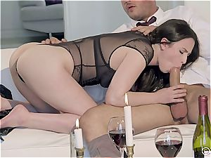 Seduced by a cool dark haired dame