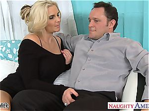 Glamourous Phoenix Marie prepped for dick in her pinkish cooch