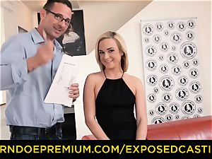 unsheathed audition - slim platinum-blonde romped and facialized