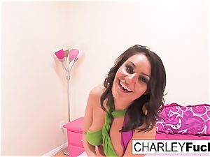busty Charley chase decided To have fun with herself