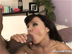 donk magnificent cougar Lisa Ann pulverizing hard ebony rod