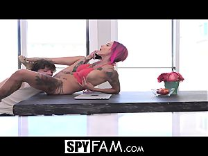 SpyFam Stepmom Anna Bell Peaks anal invasion plow by stepson