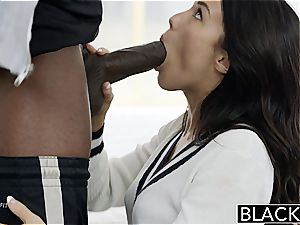 BLACKED Megan Rains first experience With giant dark-hued hard-on Part 1