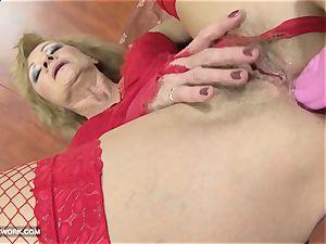 multiracial pornography grandma enjoys it rough gets anal humped