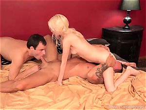 hotwife sees as his wife has hook-up with her lover. He wants too