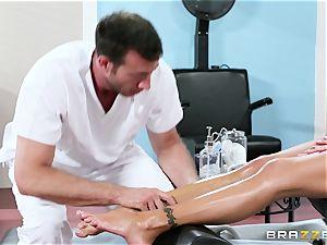 Nina Elle - caress my legs and do massage my pussy