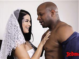 cheating bride creampied by a big black cock